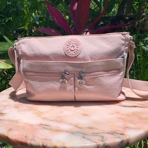 Kipling pink crossbody camera bag